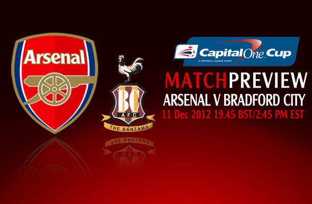 Arsenal V Bradford City AFC; Capital One Cup Match Preview