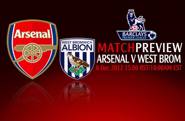 Premier League Match Preview; Arsenal v West Brom