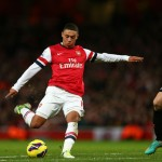 Alex Oxlade-Chamberlain scores Arsenal's second goal