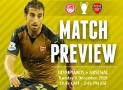 Match Preview: Olympiacos v Arsenal; Not the End of the World
