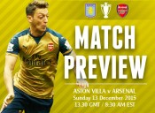 Match Preview: Aston Villa v Arsenal; Consistent Confidence is Needed