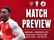 Match Preview: Arsenal v Swansea City; A Swift Kick Up The Arse Needed