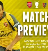 Match Preview: Arsenal v Basel; Roll On