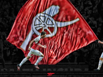 Arsenal Flag Desktop Background