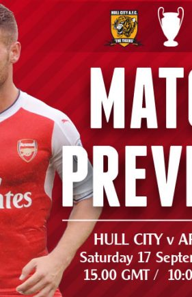 MATCH PREVIEW: Hull v Arsenal; Any Time You Want to Start the Season Lads?