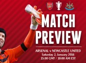 Match Preview: Arsenal v Newcastle United; Starting off 2016 on the Right Foot
