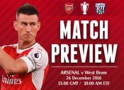 Match Preview: Arsenal v West Brom; Festive Feast or Continued Famine?