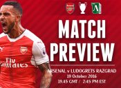 Match Preview: Arsenal v Ludogrets Razgrad; Lucky Number 7?