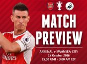 Match Preview: Arsenal v Swansea City; Looking to Roll On